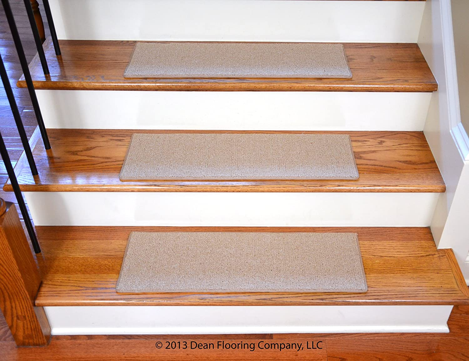 Dean NonSlip Tape Free Pet Friendly DIY Carpet Stair TreadsRugs