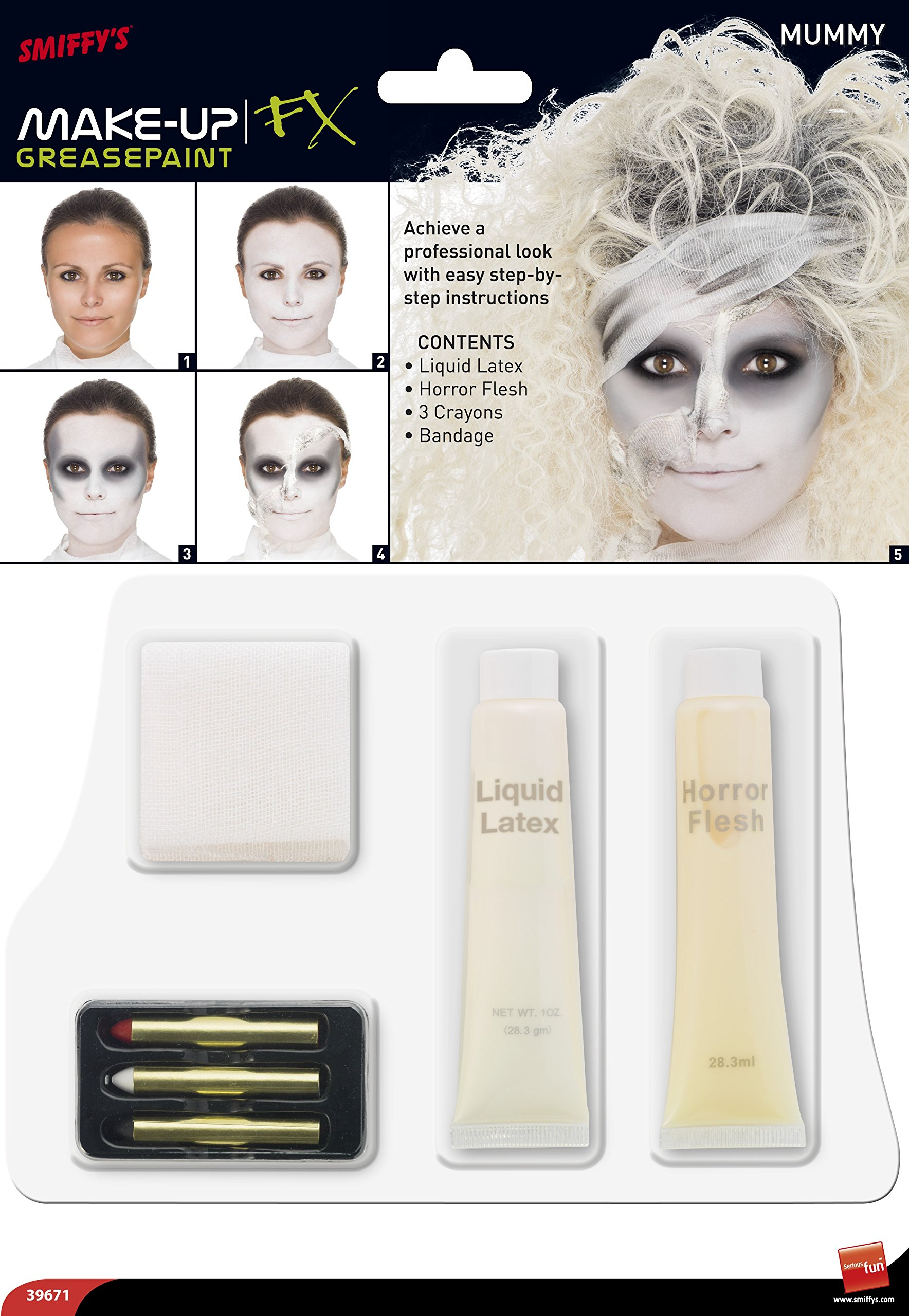 Smiffy\'s Mummy Special Effects Kit Includes Liquid Latex Horror ...