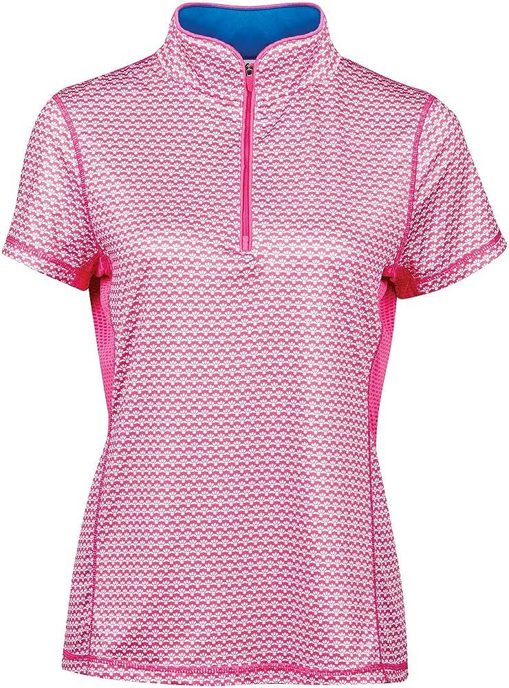 Dublin - Camisa de Manga Corta Ecuestre Kylee con Estampado para Chica Mujer (S) (Rosa Carmine): Amazon.es: Ropa y accesorios