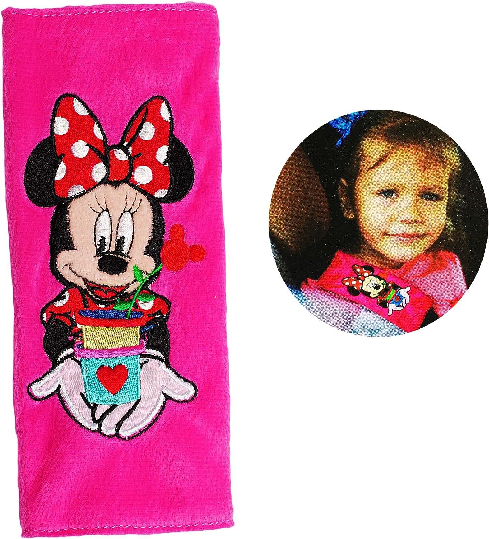 Schoner Autosit.. f/ür Sicherheitsgurt als Gurt Polster Disney Minnie Mouse incl Gurtschutz Name alles-meine.de GmbH Gurtschoner // Gurtpolster f/ür Auto // Kindersitz