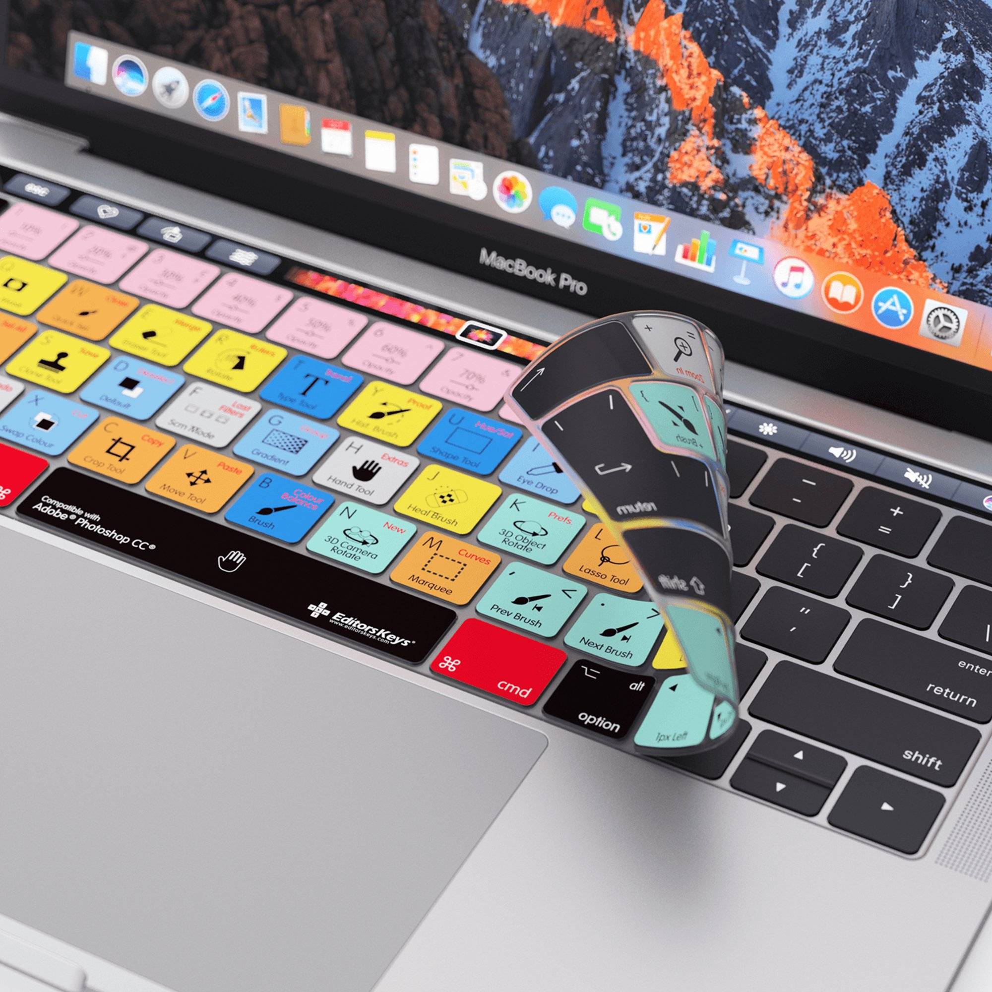 Adobe Photoshop Keyboard Cover for MacBook Pro Touch Bar - Protection and Shortcut Skin. 13'' | 15'' by Editors Keys, Adobe (Image #5)
