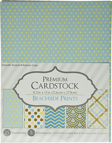 Darice Patterned Prints 8.5 by 11 Cardstock Paper Pack Piece 25 Sheets Garden Party 8.5x11