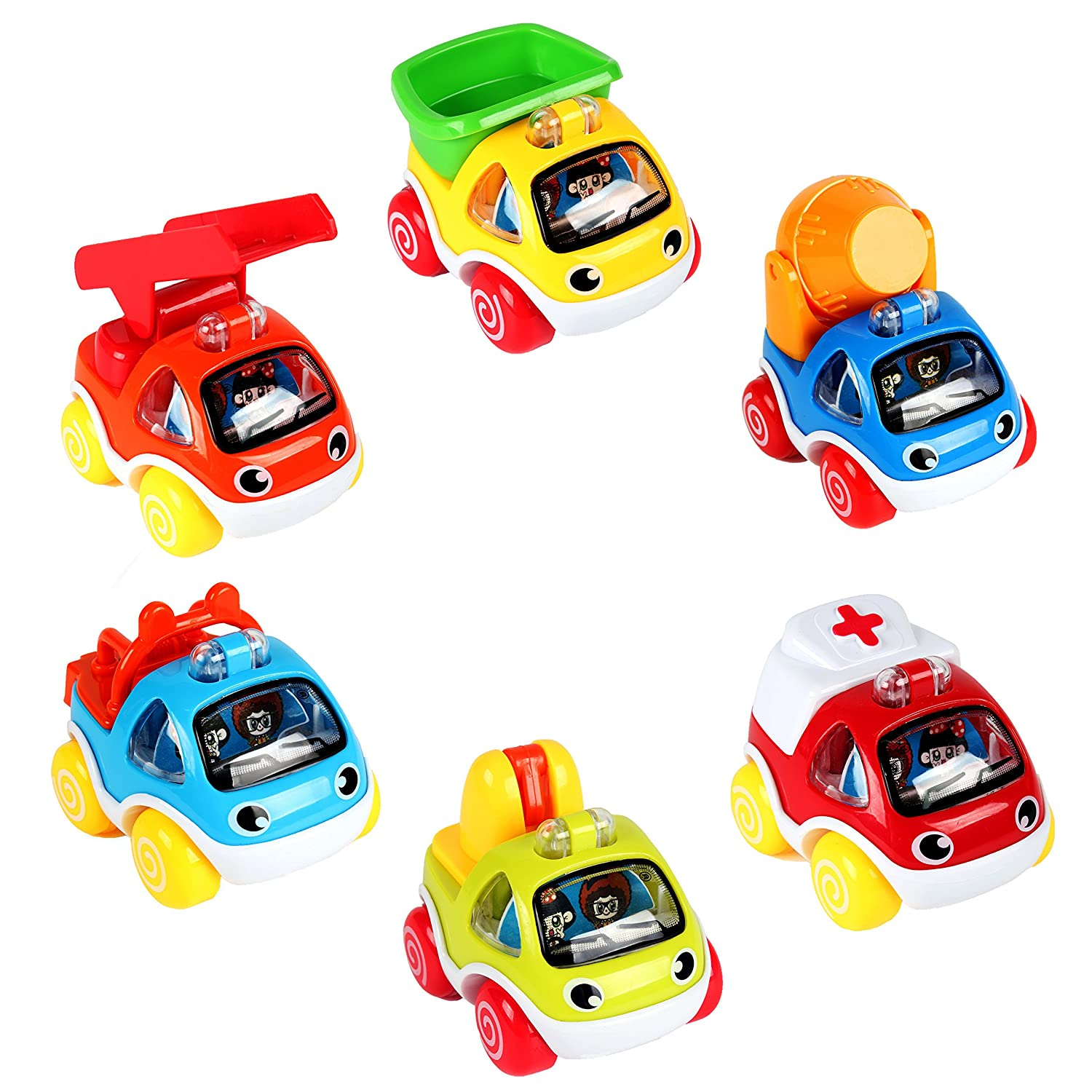 LUKAT Cars Toys for 1 2 year old Pull Back Cars Vehicles Gifts for 1 2 years old Baby Toy Cars .