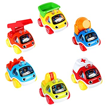 Lukat Cars Toys For 1 2 Year Old Pull Back Cars Vehicles Gifts For 1