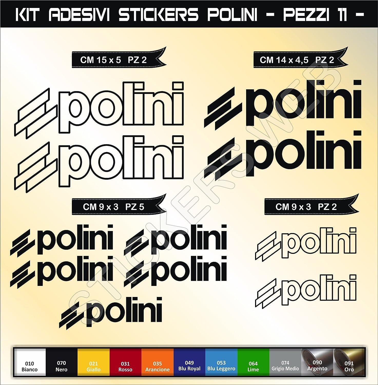 Moto Motorbike cod.0572 Pimastickerslab Kit Adesivi Stickers Polini 11 Pezzi- Scegli Colore