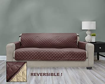 Premium Quality Reversible Couch Cover For Dogs, Kids, Pets   Sofa Slipcover  Set Furniture