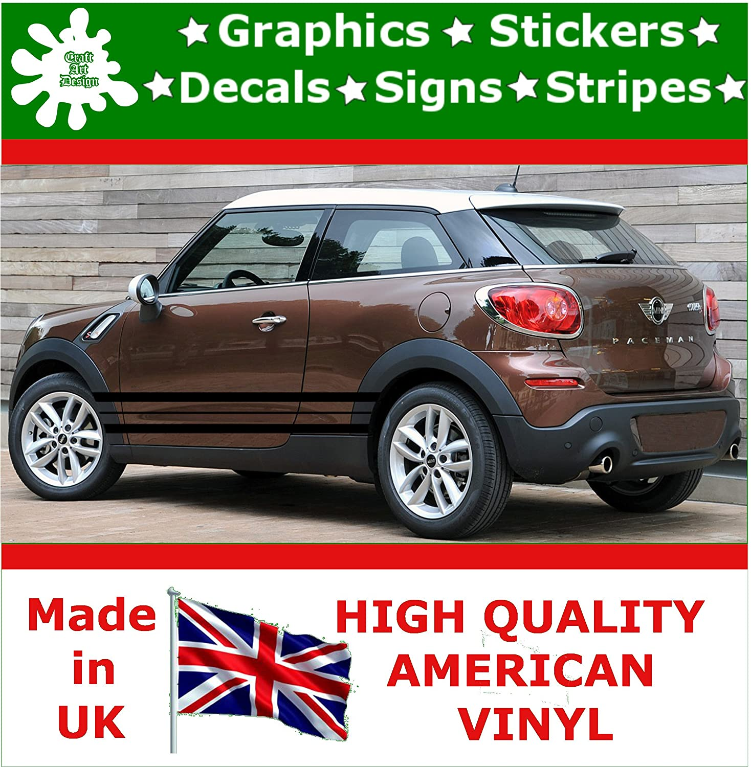 Craft art design car side stripe graphics sticker vinyl decal tuning racing body stripe stickers graphics vinyl decal decals racing sticker