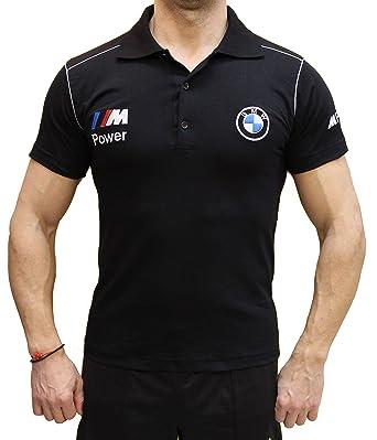 Auto M Camiseta Bimmer Bordado Cuello Negro Peinado Algodón Polo ...