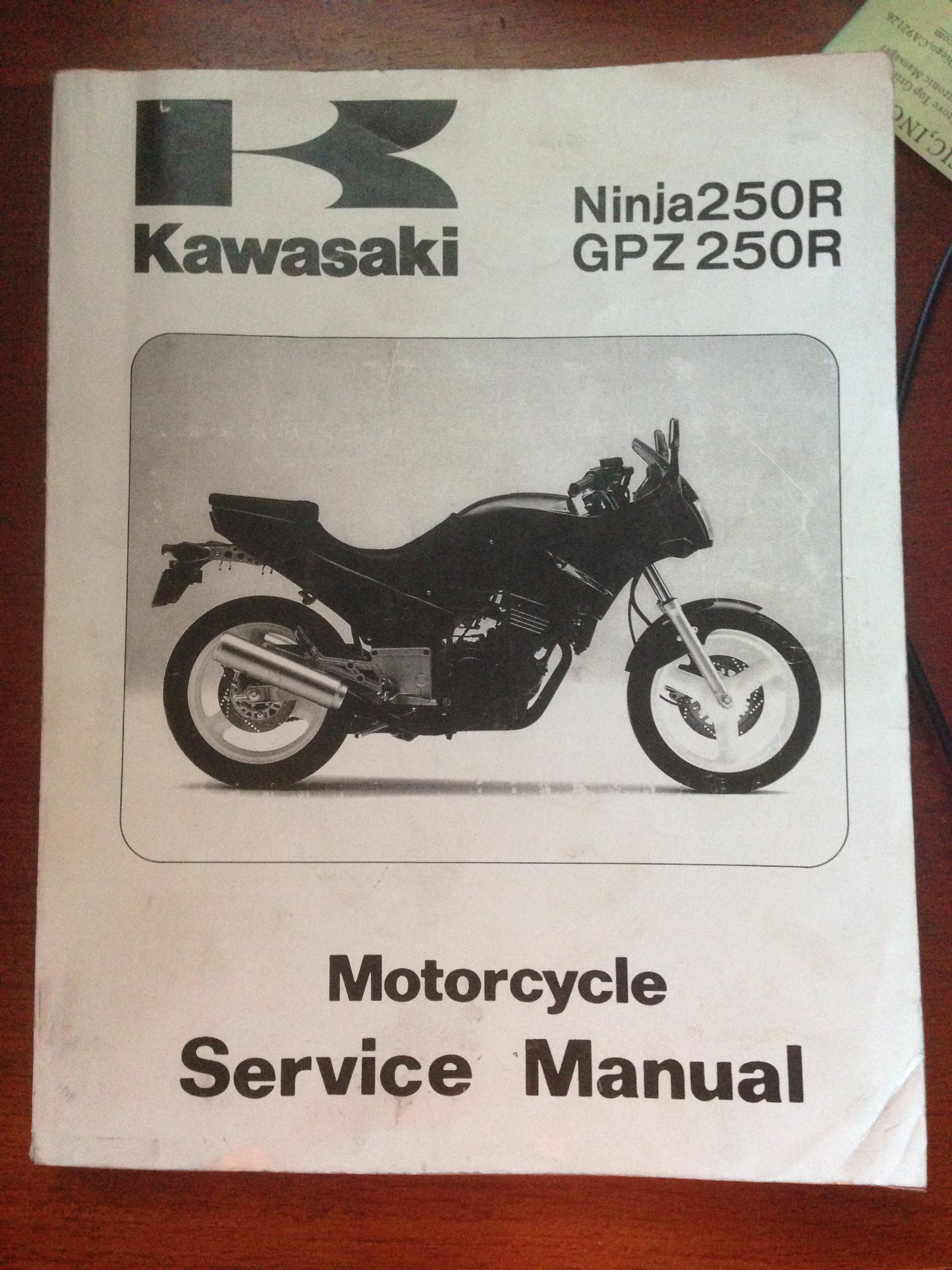 1986 1987 Kawasaki Ninja 250R GPZ250R Service Manual Paperback – 1987