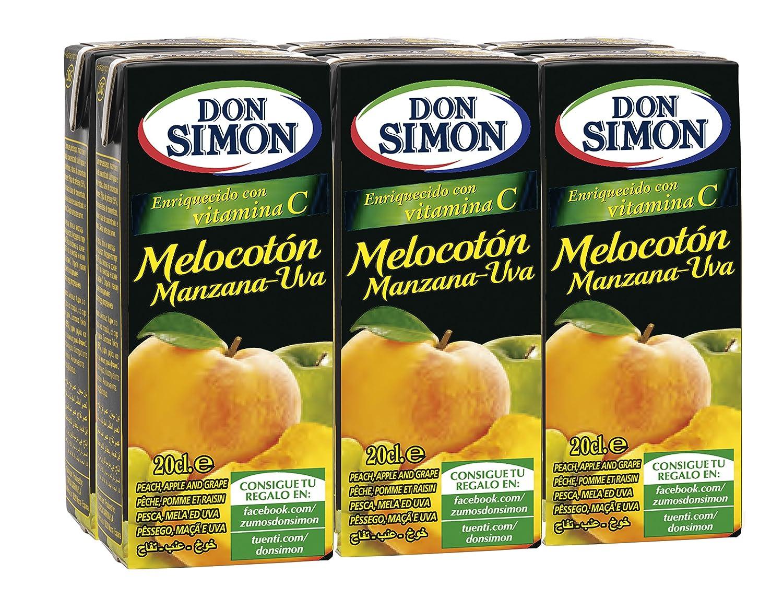 Don Simon - Zumo de Melocotón Uva, 0,200 L Brik x 6: Amazon.es: Alimentación y bebidas