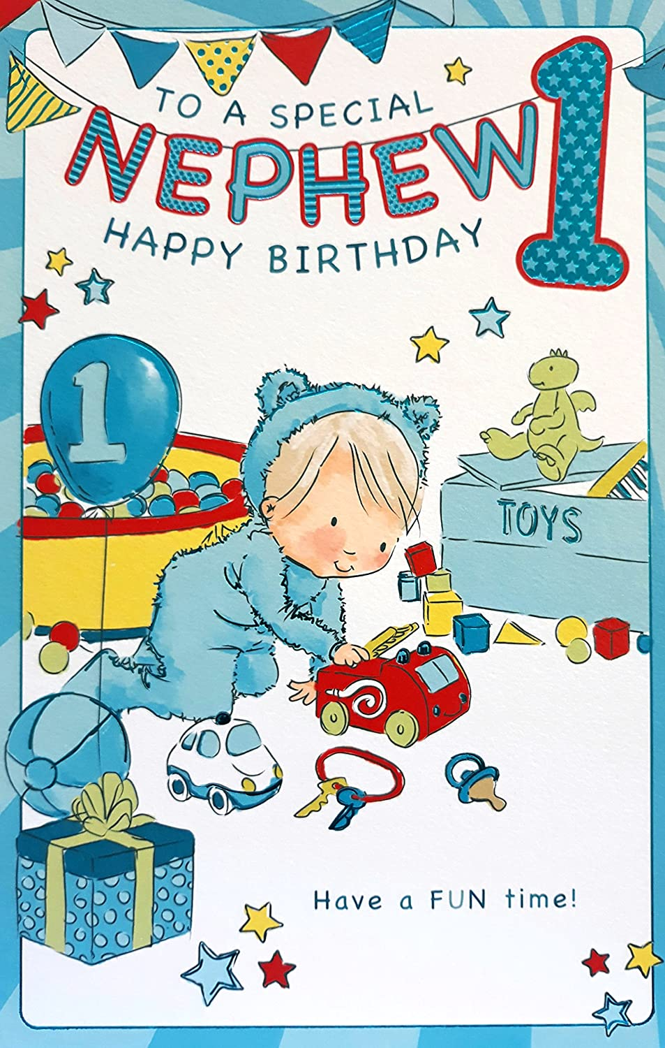 Jelly Beans Activity Card ~ Special Nephew 5st Birthday card