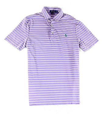 Soft S Mens Polo Shirt Striped At Touch Purple Lauren Rugby Ralph 1lFJcTK