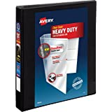"Avery Heavy-Duty View Binder, 1"" One-Touch Slant Rings, 220-Sheet Capacity, DuraHinge, Black (79699)"