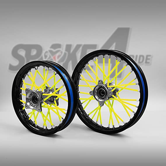 Speichencover Gelb Spoke Tubes Speichen Cover Speichen Überzug Spoke Skins Motocross Enduro Felgen Rad Motorrad Auto