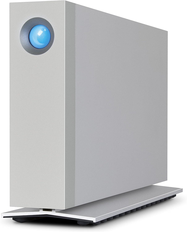 LaCie d2 Thunderbolt 3 6TB External Hard Drive Desktop HDD – Thunderbolt 3 USB-C USB 3.0, 7200 RPM Enterprise Class Drives, for Mac and PC Desktop, 1 Month Adobe CC (STFY6000400)