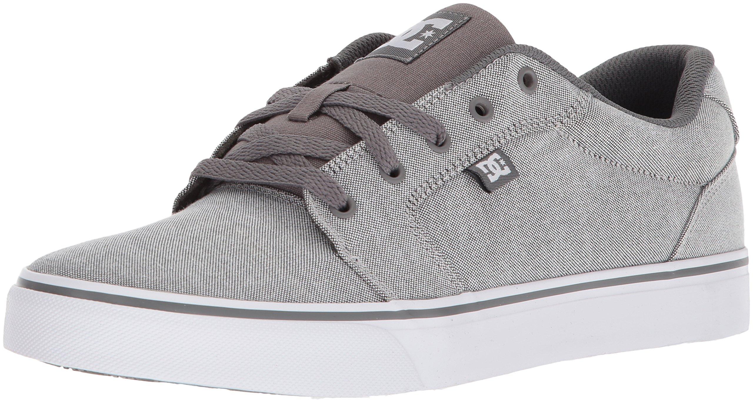 DC Men's Anvil Tx Skate Shoe, Grey Rinse, 11 D US