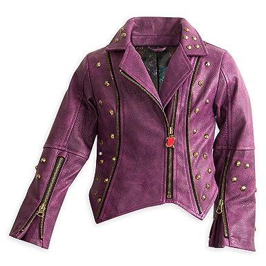 Amazon.com  Disney Descendants 2 Faux Leather Moto Jacket for Girls ... f77259a303d7
