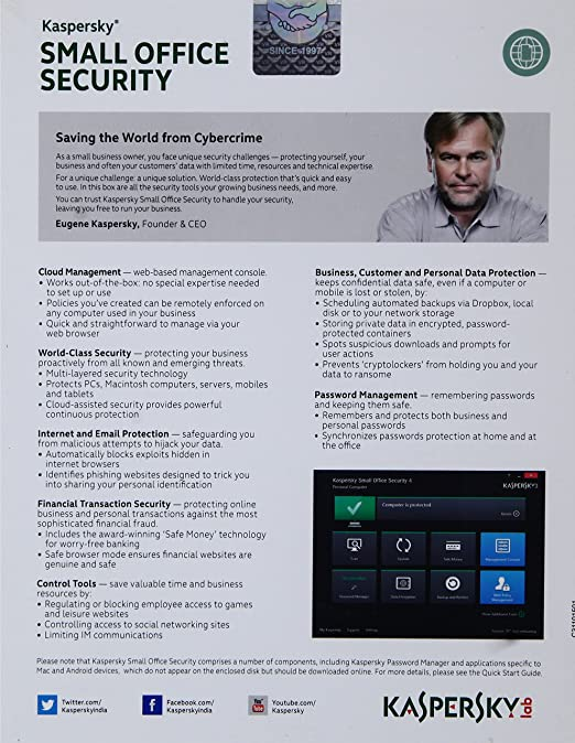 kaspersky small office security 20 user