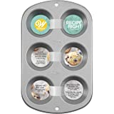 Wilton Recipe Right Muffin Pan, For great Muffins, Cupcakes, Breakfast Potato Egg Cups and so Much More, 6-cups