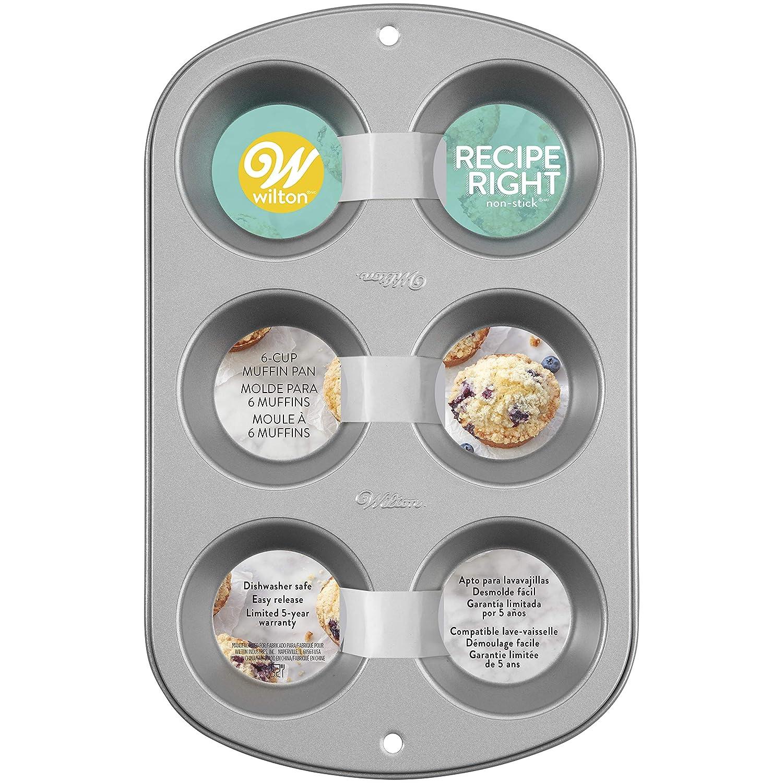 Wilton Muffin Tin, Recipe Right, Non Stick, Standard, 6 Holes