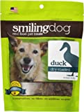 Herbsmith Smiling Dog Dry Roasted Duck Treats for Dogs and Cats, 3-Ounce