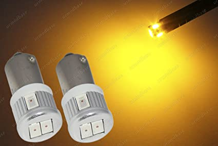 2 bombillas LED de bayoneta, amarillo, ámbar, naranja, H21W BAY9S Xenon,