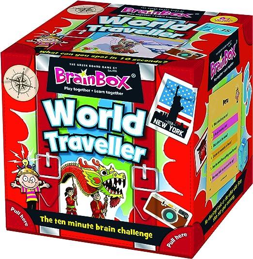 Green Board Games - GRE91037 - BrainBox - World Traveller - Juego de Cartas: Amazon.es: Juguetes y juegos
