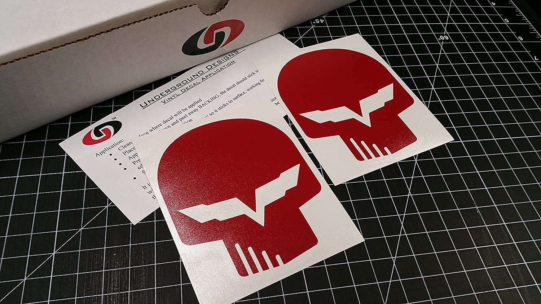Amazon com corvette jake skull decal racing flag sticker ls1 ls6 ls2 ls3 ls7 lsx select color blood red automotive