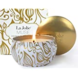 Scented Candles Vanilla Coconut Candle Soy Wax, 8.1 oz Aromatherapy Travel Tin, Sweet and Fresh
