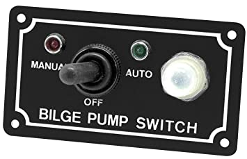 Sline Marine Bilge Pump Switch 3-Way Panel on