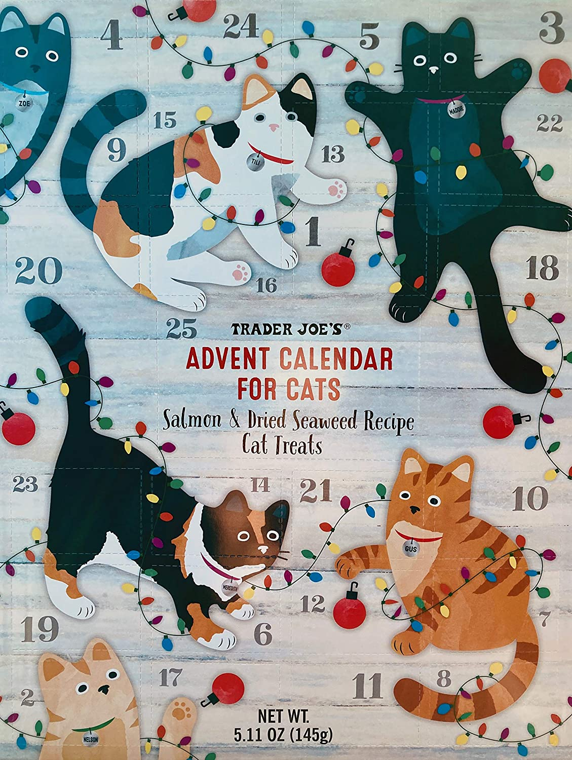 Trader Joe's Advent Calendar for Cats - Salmon and Dried, No Color, Size No Size