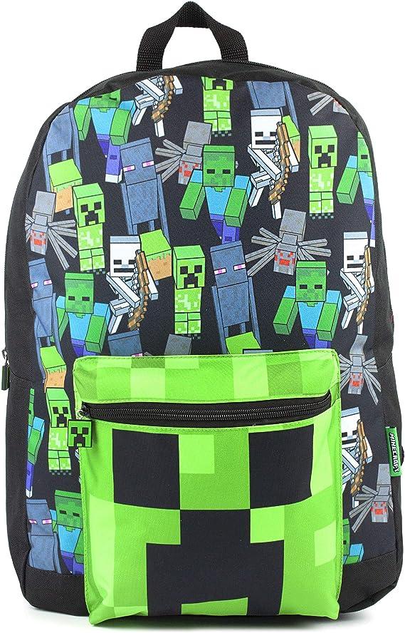 Minecraft All Over Print Kids Mochila negra Mochila escolar para niños: Amazon.es: Ropa y accesorios