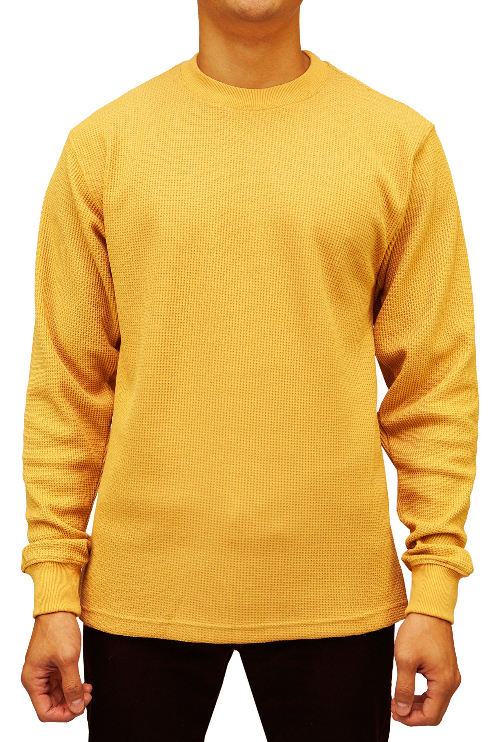 Access Men's Big & Tall Heavyweight Long Sleeve Thermal Crew Neck Top (3X, Wheat) by Access