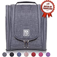 Premium Travel Toiletry Bag for Women and Men | Hanging Toiletry & Hygiene Bag | Cosmetic Bathroom and Shower Travel Bag | Large Organizer with Cosmetics & Brush Holder | Great as a GlFT