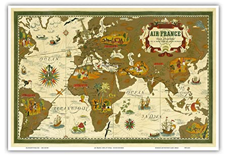 World Route Map - Air France - Nova Et Vetera (The Old and ...