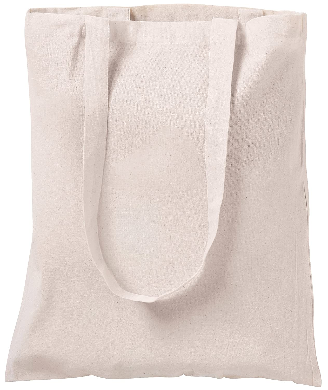 10 NATURAL COTTON TOTE BAGS SHOPPERS NATURAL CENTRIX