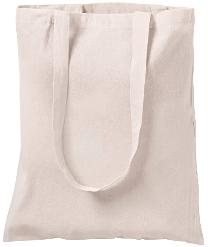 3154081b77f37 10 NATURAL COTTON TOTE BAGS SHOPPERS NATURAL  Amazon.co.uk  Luggage