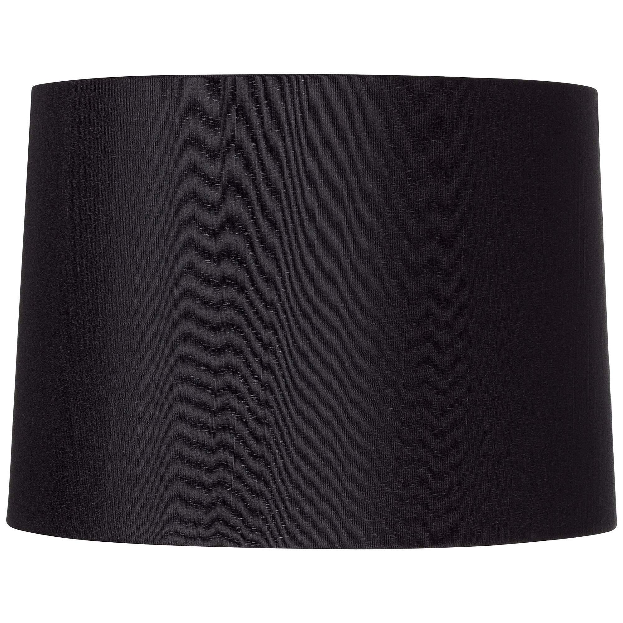 Black Hardback Drum Shade 13x14x10.25 (Spider) - Brentwood by Brentwood
