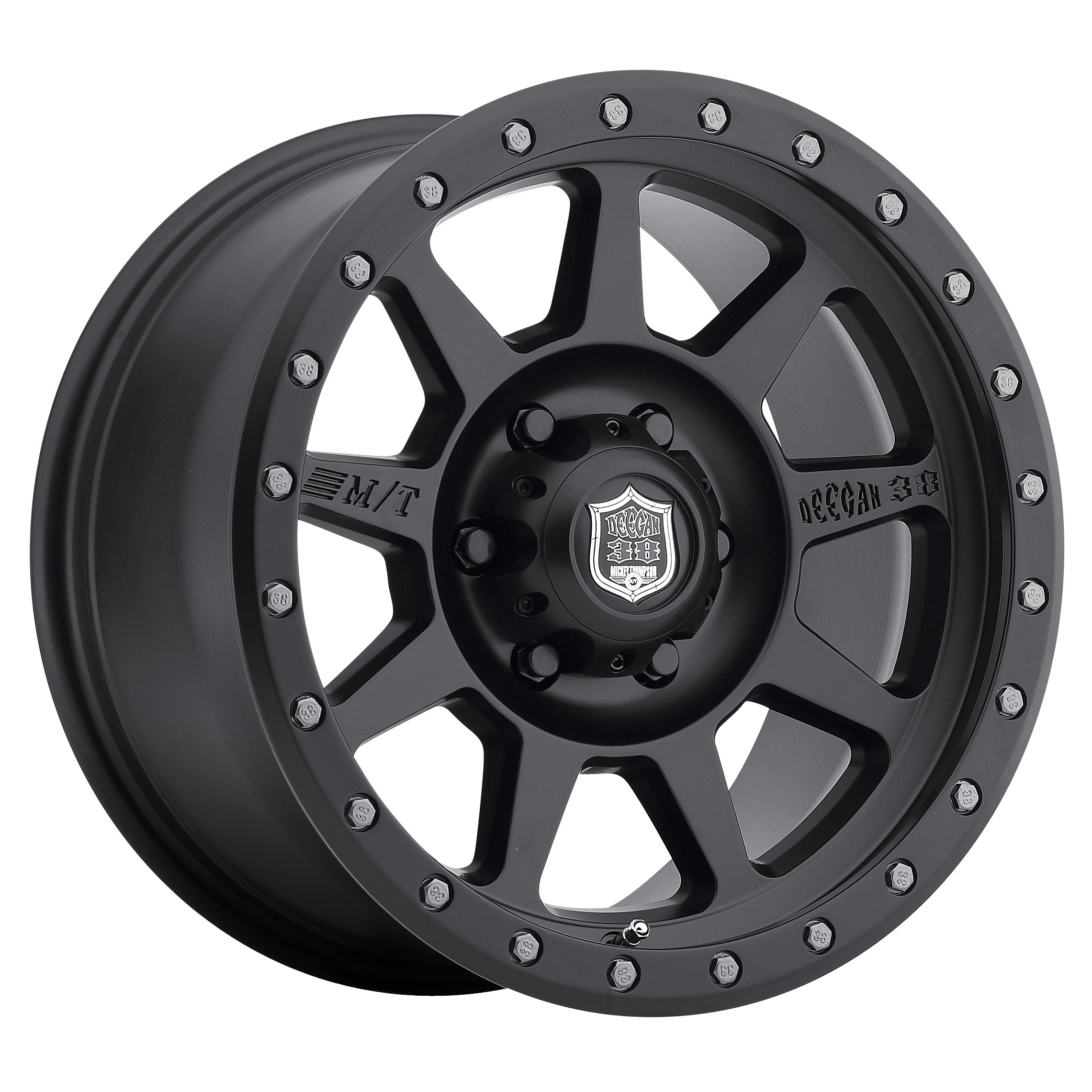 Mickey Thompson Deegan 38 PRO 4 Black Wheel with Matte Black Finish (17x9''/5x5'') -12 millimeters offset