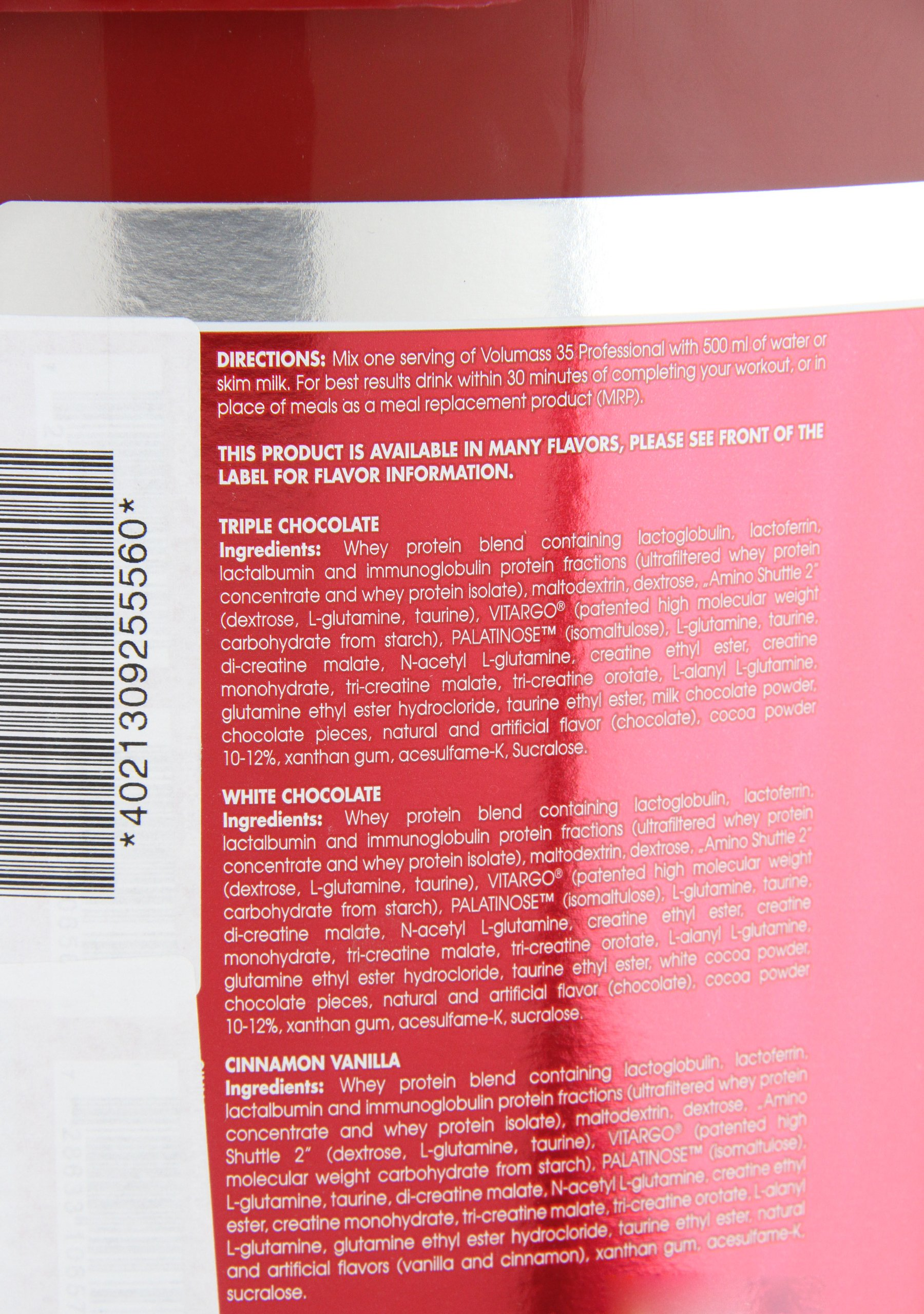 Volumass 35 professional - 6 kg - Triple Chocolat - Scitec nutrition