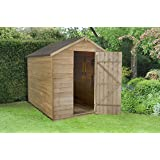 Forest Garden 8x6 Apex Security Overlap Garden Shed - Pressure Treated