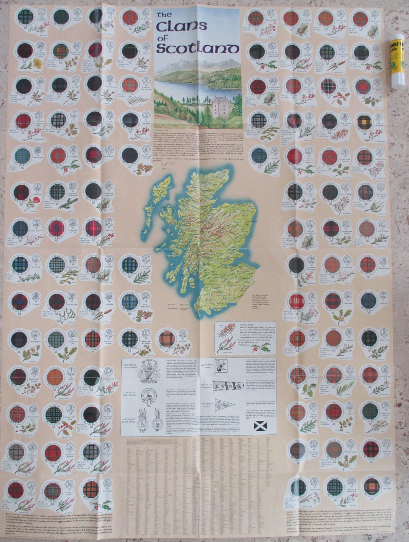 The clans of Scotland: A full colour pictorial map depicting