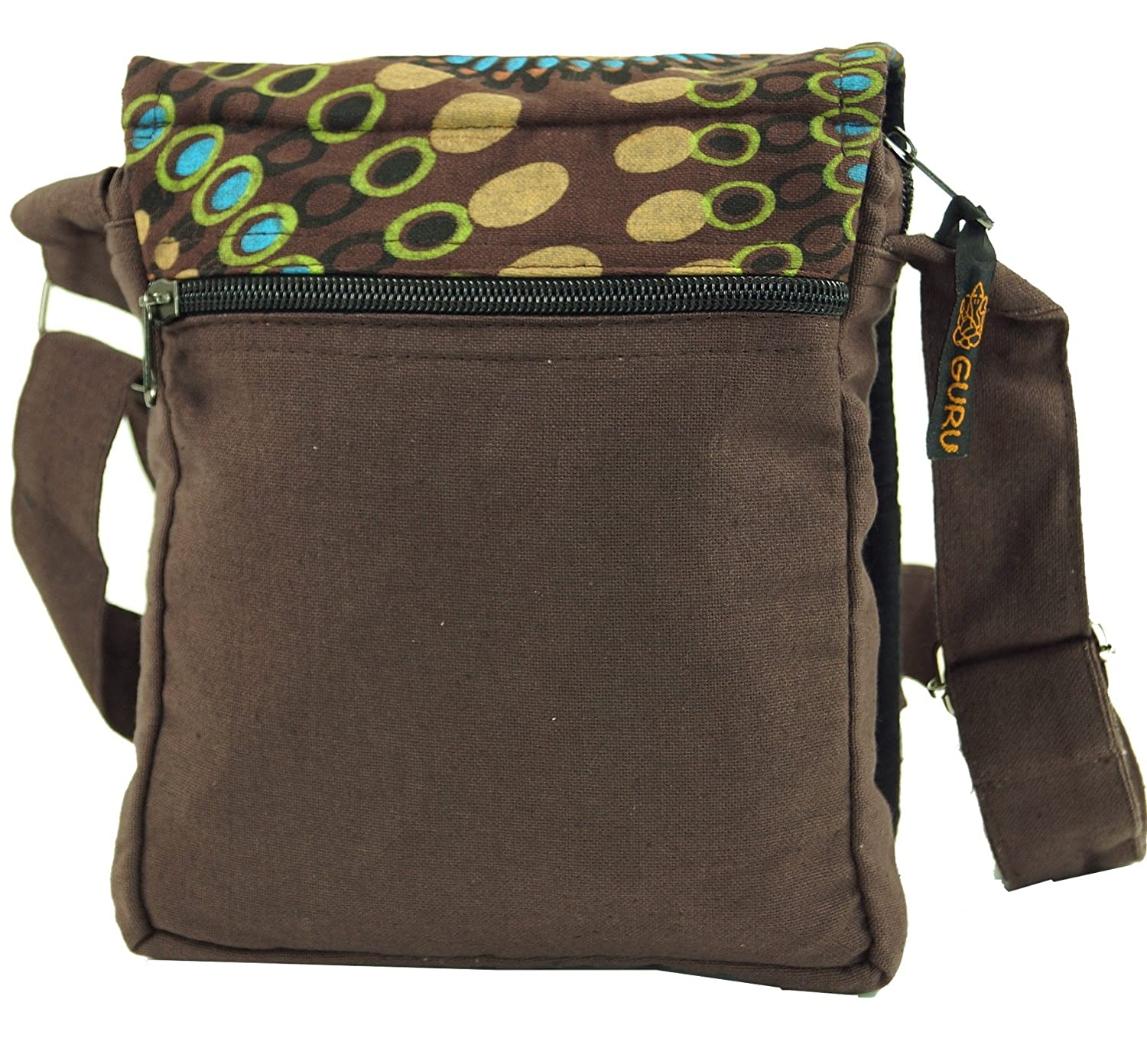 Guru Shop Small Shoulder Bag, Hippie Bag, Goa Bag Brown