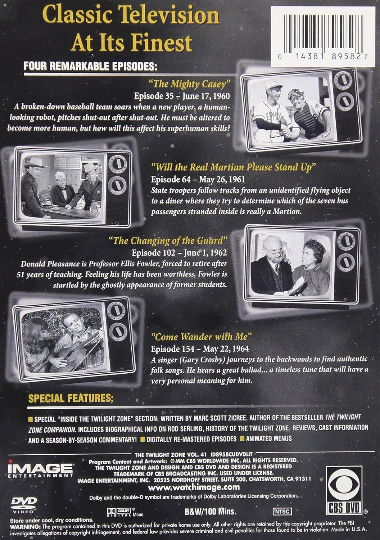 Amazon com: The Twilight Zone, Vol  41: Rod Serling, Robert
