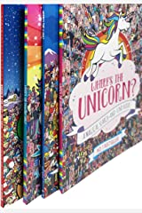 Where's The Unicorn Search and Find Activity 6 Books Collection Set (Wheres Unicorn,Where's Unicorn-Now,Wheres Llama Llotta Llamas,Where's Elf Christmas,Wheres Elf Christmas,Wheres Sloth Super) Paperback