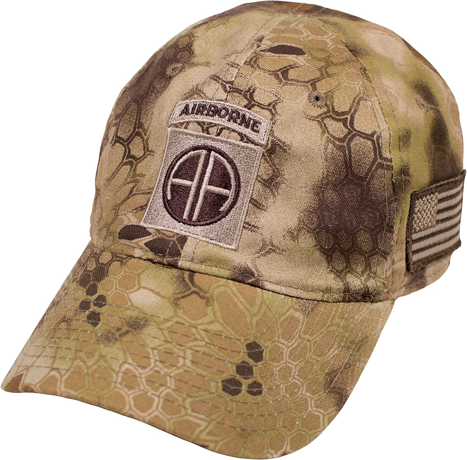 345e3e946ad4b Military Shirts U.S. Army 82nd Airborne Division Kryptek Camo Cap at Amazon  Men s Clothing store