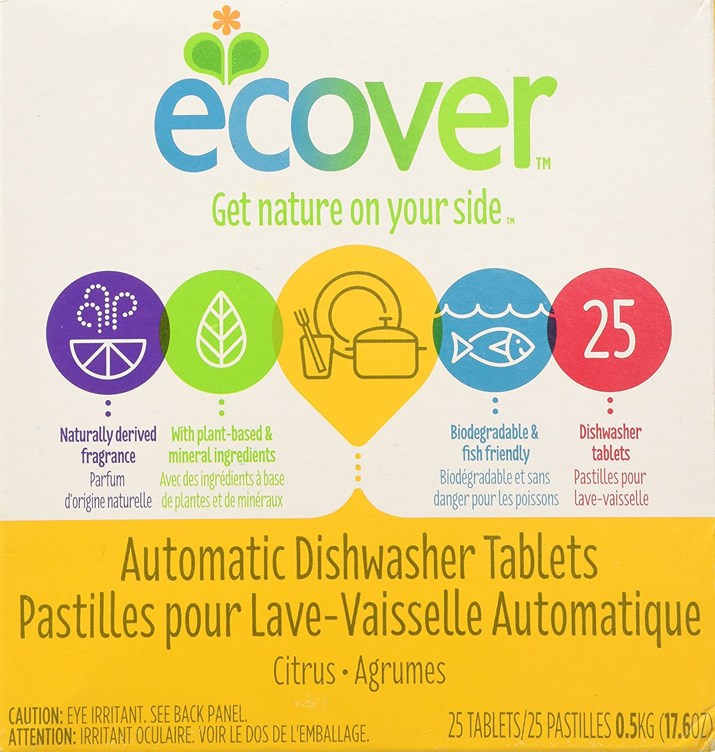 Ecover Automatic Dishwasher Soap Tablets, Citrus, 45 Count ECV-037