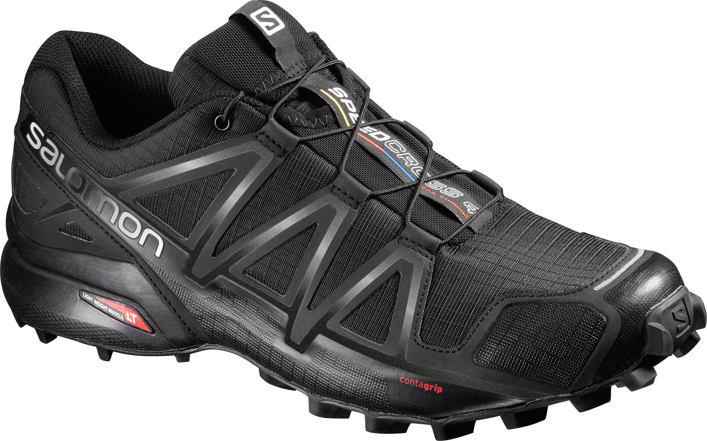 Salomon Men's Speedcross 4 Trail Running Shoes, Black/Black/Black Metallic, 11.5D (Medium)