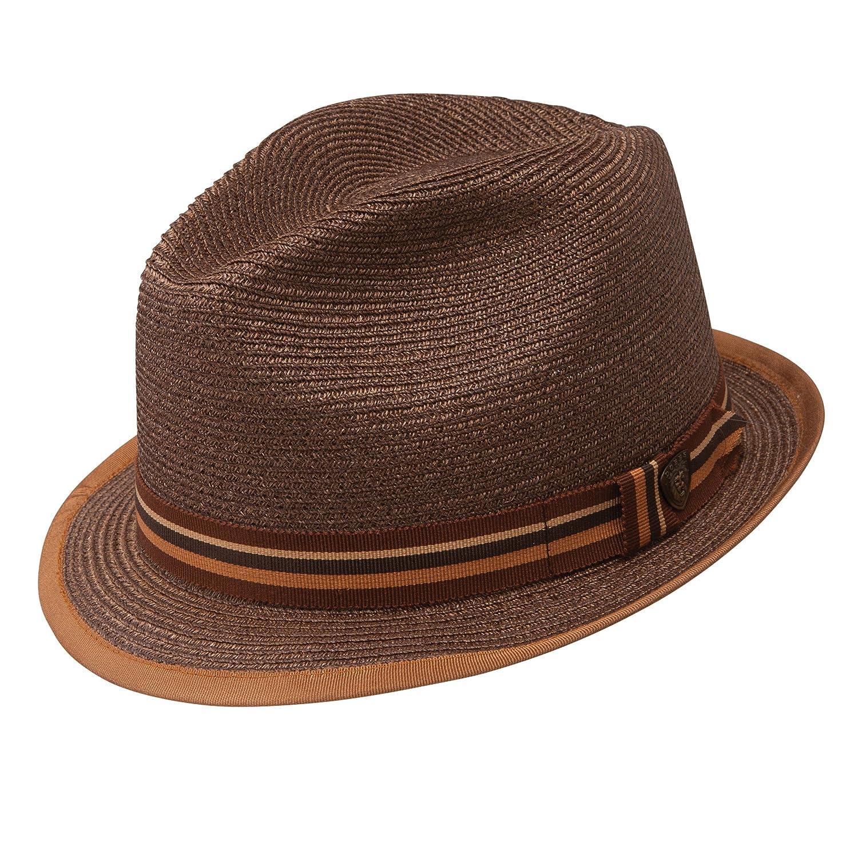Dobbs Fifth Avenue New York Brown Hemp Straw Hat Fedora 7 3//8 Oval 1 1//2 Brim