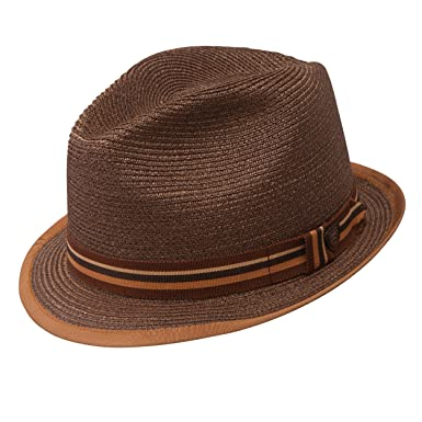 b189d9d0bcd1b Image Unavailable. Image not available for. Color  Dobbs Fifth Avenue New  York Brown Hemp Straw Hat Fedora ...